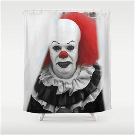 creepy shower curtain creepy clown shower curtain by maioriz from society6 home
