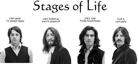 stages  life explained   beatles