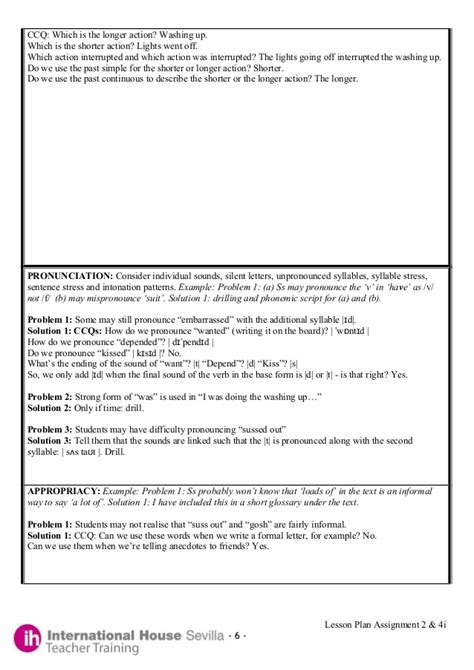 lesson plan template celta international house lesson plan template house plans