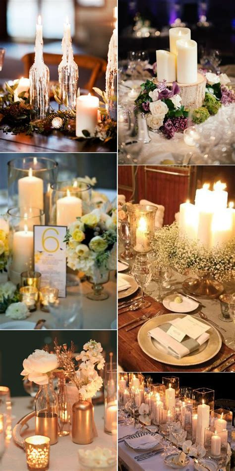 stunning wedding ideas  candles  images
