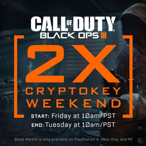 jonathan kaplan crypto black ops 3 s first ever 2x cryptokey weekend for call of