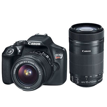canon eos rebel t6 dslr with 18 55mm is ii lens and 55