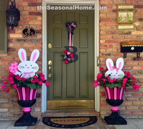 Spring Decorating Ideas For Your Front Door | 2 easter bunnies 3 different looks 171 the seasonal home