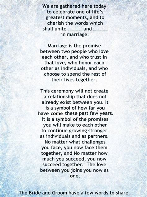 Wedding Vows Script traditional wedding ceremony script search