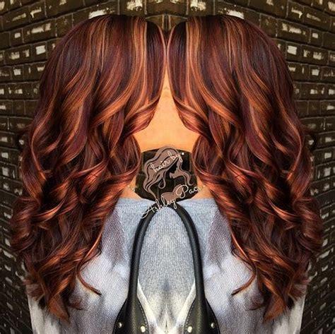 burgundy hair with caramel highlights 50 glamorous auburn hair color ideas