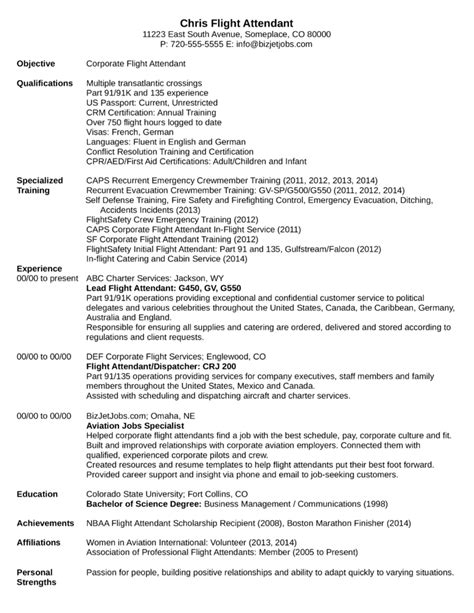 corporate flight attendant cv sle 28 images sle