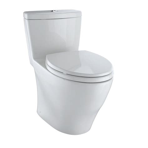 Closet Toto 421 White toto aquia 1 elongated 0 9 1 6 gpf dual flush skirted toilet in colonial white ms654114mf
