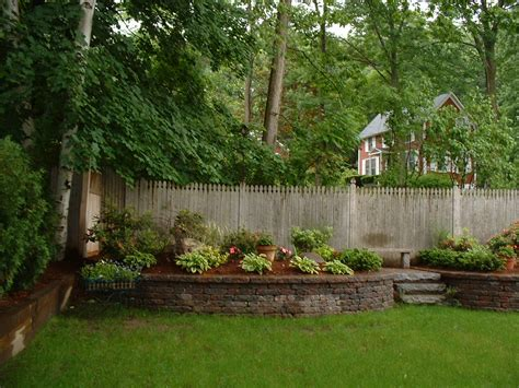 Backyard Landscapes Ideas Small Scale Retaining Wall Homie