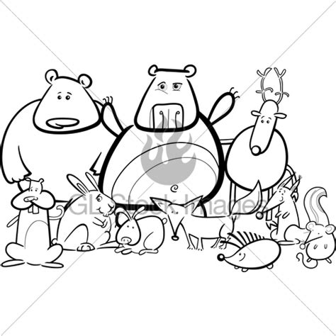 group of animals coloring page group of wild animals coloring pages