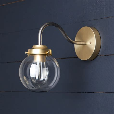 Sconce Globes by Clear Glass Globe Wall Sconce Two Co