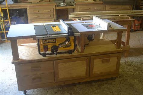 table saw router combo table saw router combo table on casters but no