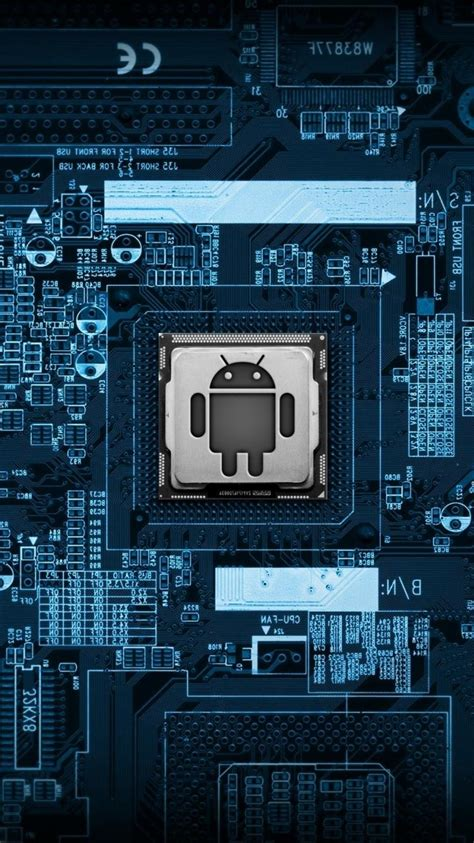 android blue chips motherboards wallpaper