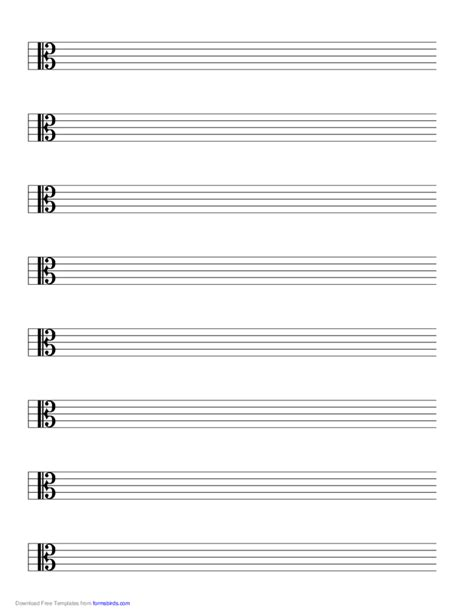 printable blank sheet music alto clef staff alto clef music paper free download