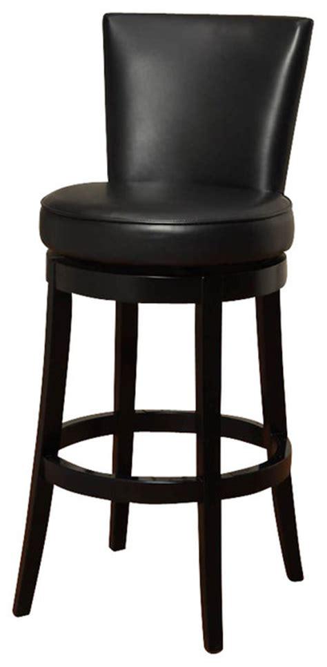 30 Inch Leather Bar Stools Armen Living Boston 30 Inch Black Bicast Leather Swivel