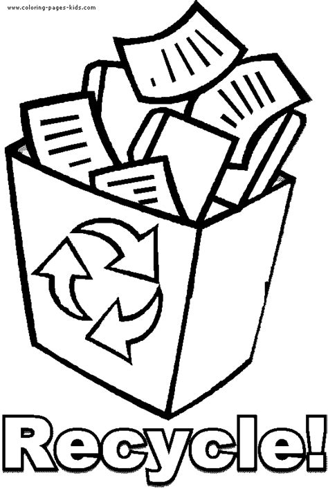 Recycle Coloring Pages Preschool | recycle kids coloring pages pinterest color sheets