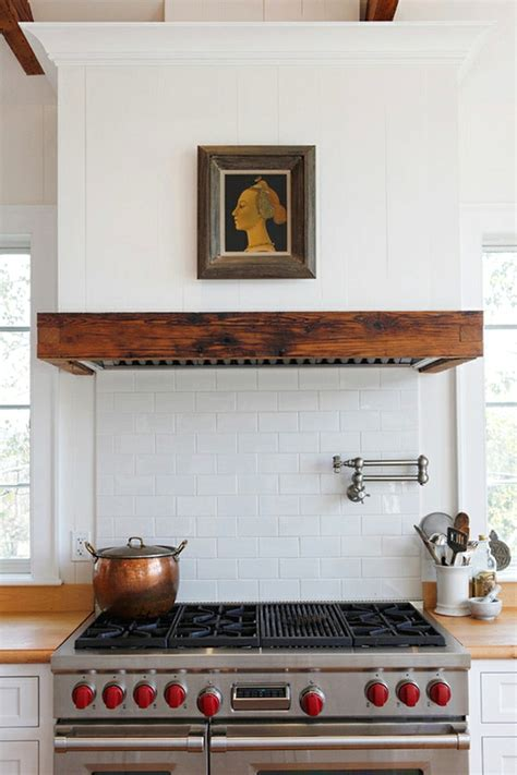 gas stove and hood fan covered range hood ideas kitchen inspiration the