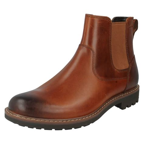 clarks chelsea boots mens s clarks casual chelsea boots style montacute top ebay
