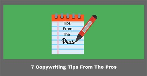 Tips From The Pros by Copywriting Tips From The Pros How To Create Killer Copy