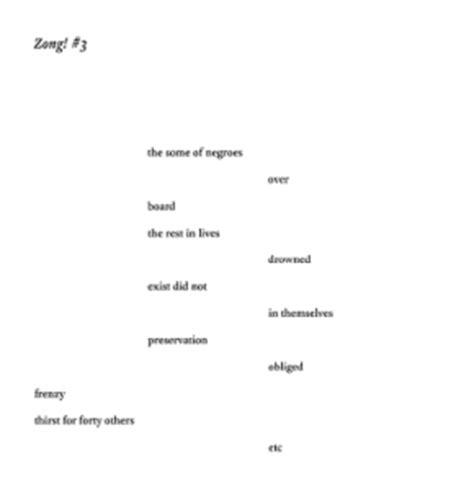 Zong Experience Letter M Nourbese Philip S Zong 171 The Black Atlantic
