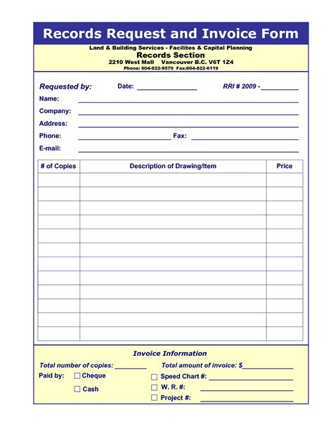 Medical Records Invoice Invoice Template Ideas Invoice For Records Template