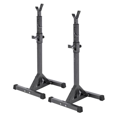 bench press safety stands 2 barbell rack stand squat bench press home gym weight