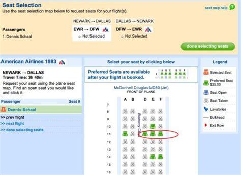preferred seat preferred seats american airlines and priceline make