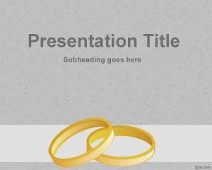 wedding ring template wedding rings powerpoint template