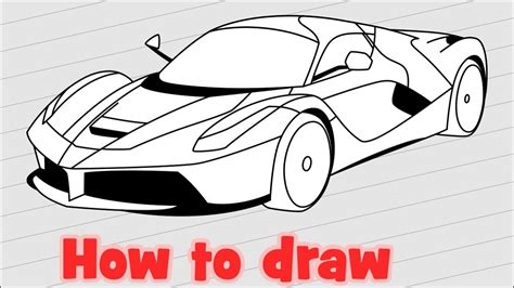 how to draw doodle step by step how to draw a car laferrari step by step tell me