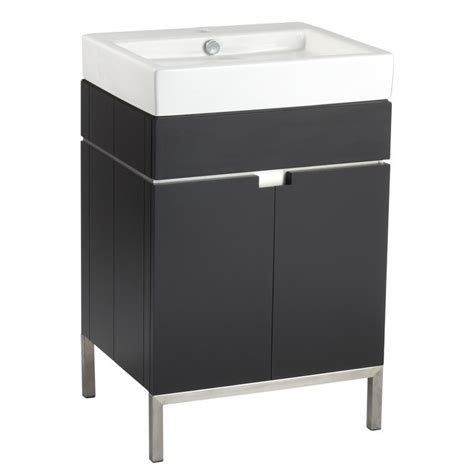 Lowe S Canada Bathroom Vanities American Standard Espresso 22 Inch Birch Poplar Bathroom Vanity With Vitreous China Top Lowe S
