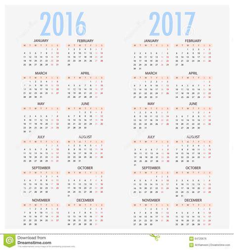 calendario 2017 por semanas 2017 calendar printable