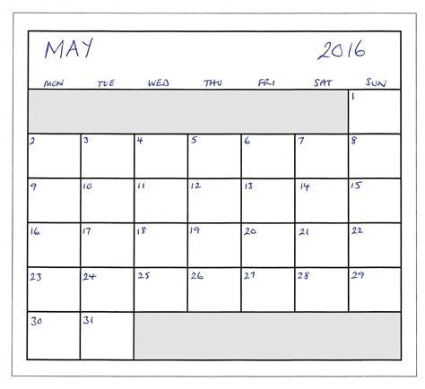 Kalender 2016 Planer Mei 2016 Planner Gratis Stock Foto Domain Pictures