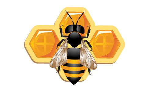 Original Reg A Free Used Bee 3d bee and honeycomb vector free