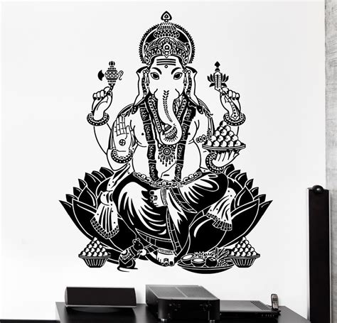 Home Design And Decor Wish App free shipping wall sticker elephant ganesh buddhism indian
