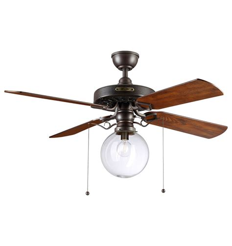 globe with fan heron ceiling fan with clear globe shade blade ceiling fan