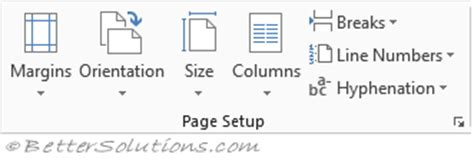 qt layout orientation bet microsoft word ribbon tabs page layout
