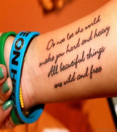 wrist tattoo lettering 71 quotes tattoos for wrist