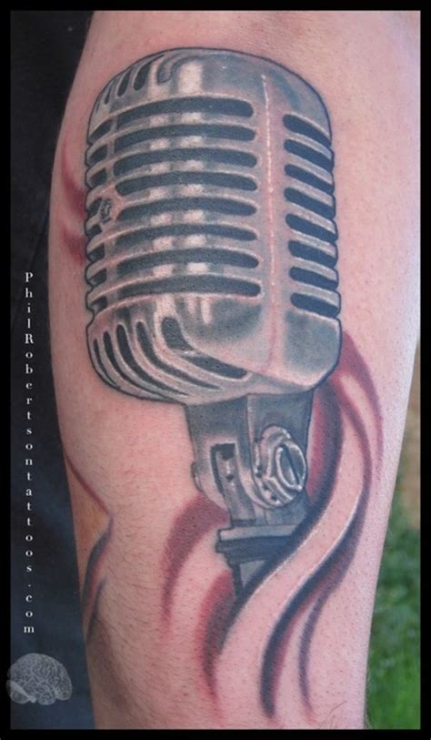 tattoo of a microphone microphone tattoo tattoo picture at checkoutmyink com