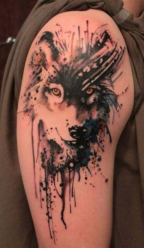 watercolor tattoo oklahoma awesome wolf wolves