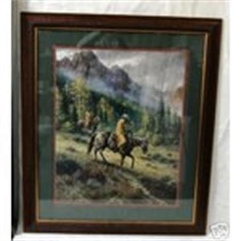 Home Interior Horse Pictures home interior homco framed picture cowboy on horse 12 11