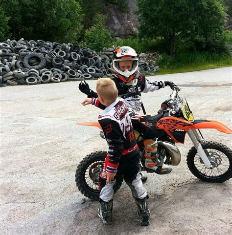 childs motocross high 5 to bigbrother ktm fox dirtbike kids high five