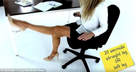 leg exercises at desk how to get fit at your desk in 10 simple exercises daily