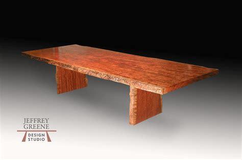 wood slab dining room table edge bubinga wood slab dining room table jeffrey