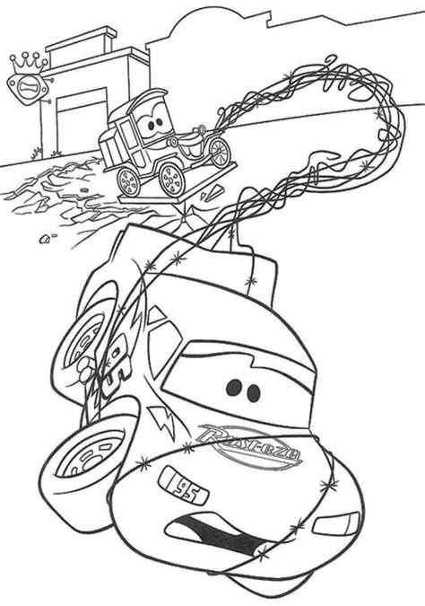 coloring pages of pixar cars pixar car trapped coloring page summer school pinterest