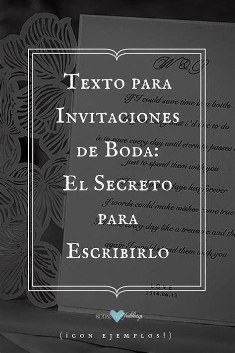 texto para invitaciones de boda el secreto para escribirlos