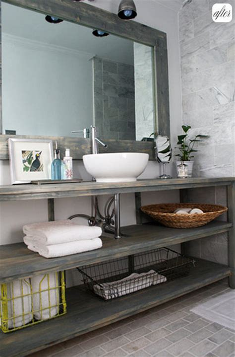 Bathroom Vanity Open Shelf Bathroom Inspiration Open Shelf Vanity Postcards From The Ridge