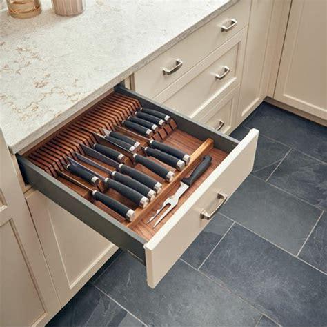 knife drawer insert wood utensil storage cut to size insert maple or walnut wood