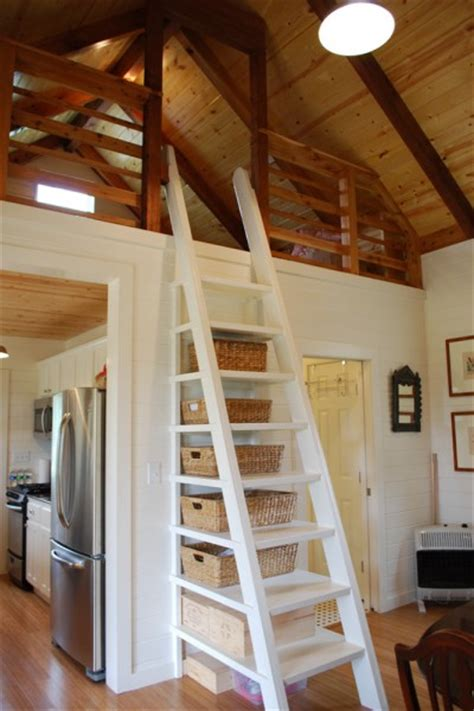 Loft Stairs Design 480 Sq Ft Kanga Cottage Cabin With Screened Porch