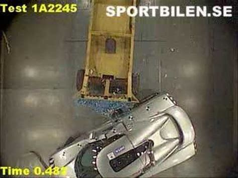 Koenigsegg Crash Test Www Sportbilen Se Youtube
