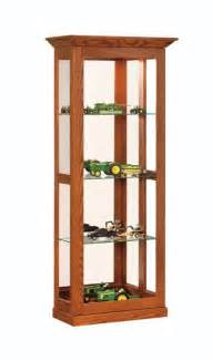 Curio Cabinet With Sliding Glass Door Amish Made Glass Sliding Door Curio Cabinet