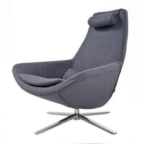 b b italia lounge chair b b italia metropolitan swivel chrome base modern grey